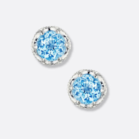 61a9be1583381c Tacori Petite Crescent Bezel Earrings featuring Sky Blue Topaz